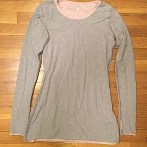 Lululemon Grey/Pink Reversible Sweater Size M